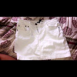 White forever21 mini denim skirt